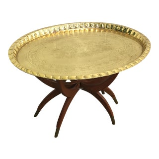 Moroccan Style Brass Tray Table