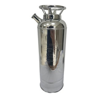 "20th Century Art Deco Chrome Musical Cocktail Shaker ""Thirst Extinguisher"" For Sale"