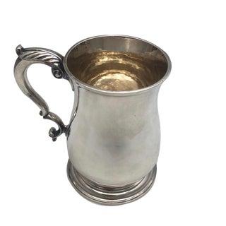 Antique 1750 English Georgian William Grundy Sterling Mug For Sale