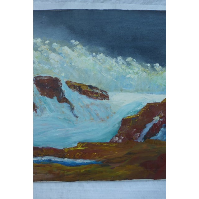 MCM Ocean Waves Painting by H.L. Musgrave - Image 4 of 7