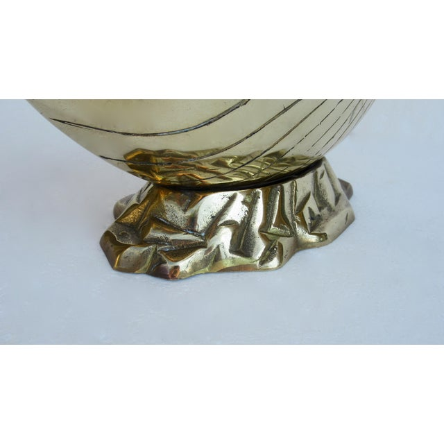 Vintage Mid-Century Modern Brass Nautilus Shell Planter For Sale - Image 10 of 13