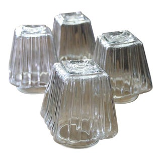 Vintage Glass Light Shades - Set of 4 For Sale