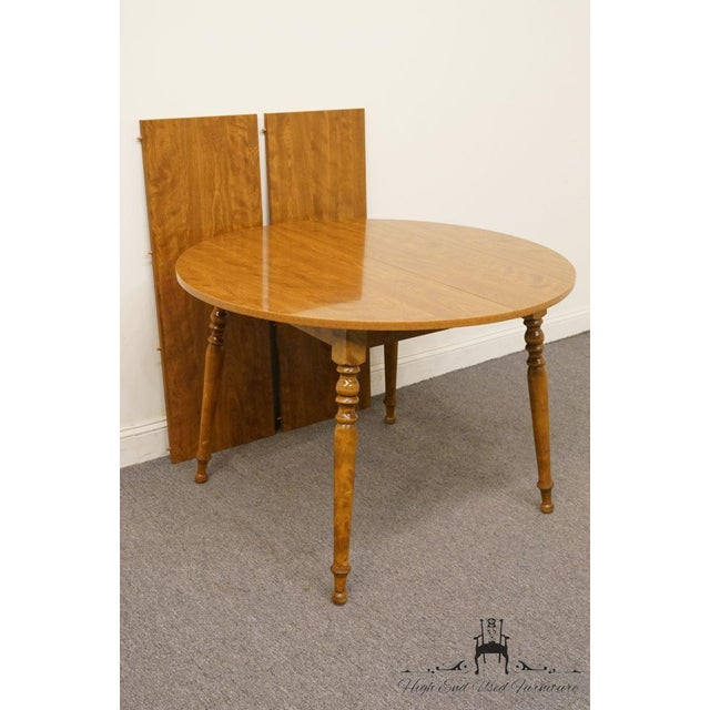 Ethan Allen 20th Century British Colonial Ethan Allen Heirloom Nutmeg Dining Table For Sale - Image 4 of 9