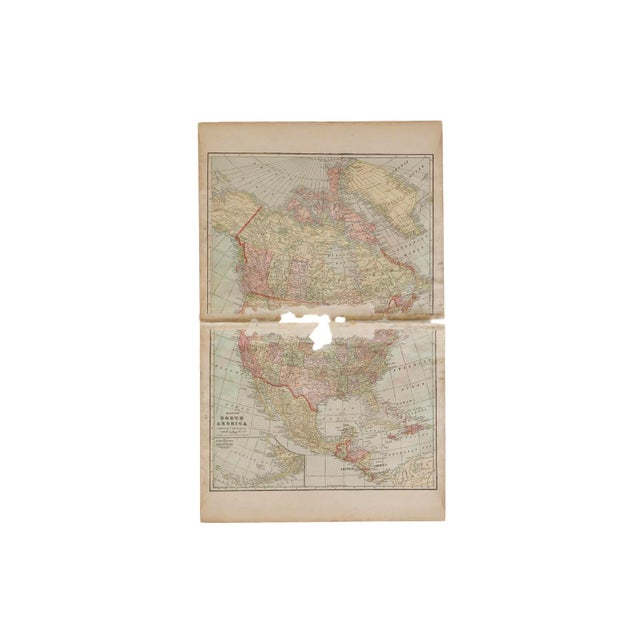 """:: From Cram's Unrivaled Atlas of the World 1907 Edition, a map of North America that measures 23.5"""" x 14.5"""". Page Numbers..."""