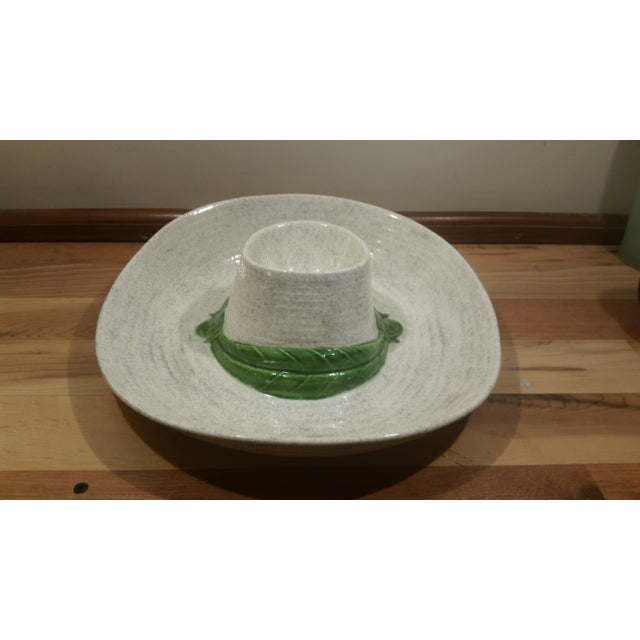 Ceramic Sombrero Chip & Dip Dish - Image 3 of 5