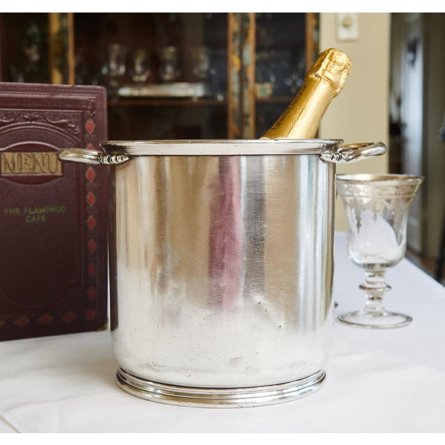 Vintage Marc Stevens, Inc. Hotel Silver Champagne Bucket For Sale In San Francisco - Image 6 of 8
