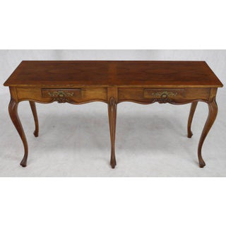 Baker Two-Drawer Walnut Console Table