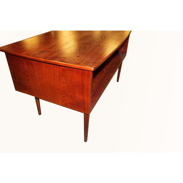 1960s Danish Mid-Century Rosewood Desk with Curved Top - Image 7 of 8