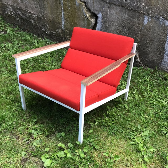 Gus Modern Halifax Chair Upholstered in Red For Sale - Image 11 of 11