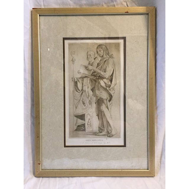 Tan 1770 Antique Giovanni Bellini Mezzotint Print For Sale - Image 8 of 8