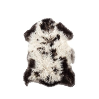 "Handmade Wool Sheepskin Pelt Rug - 2'0""x2'9"" For Sale"