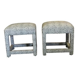 Vintage Newly Upholstered Benches - A Pair