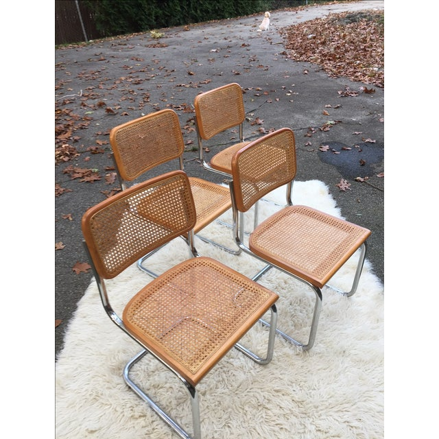 Marcel Breuer-Style Cane Chairs - Set of 4 - Image 2 of 6
