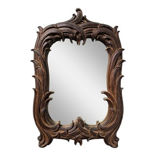 19th Century Black Forest Carved Wall Mirror For Sale
