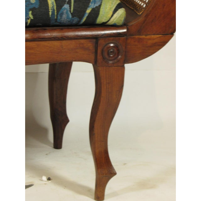 Blue 19th C. British Colonial Rosewood Settee For Sale - Image 8 of 13