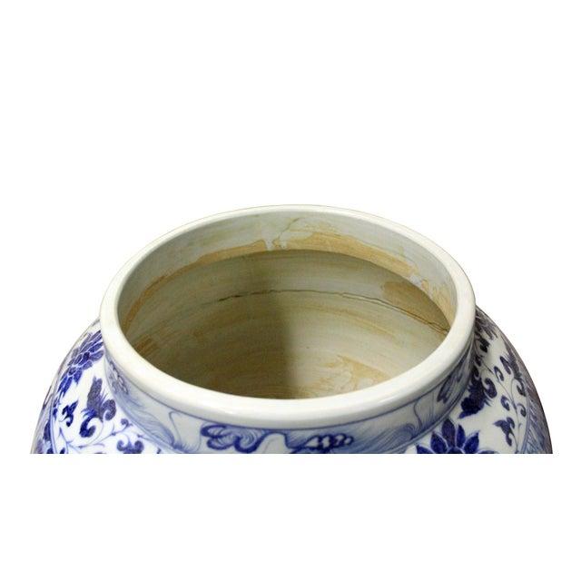 Chinese Blue White Porcelain People Scenery Fat Body Vase Jar - Image 3 of 7
