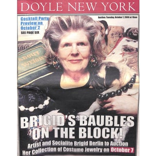 Doyle New York: Brigid Berlin Costume Jewelry Auction, October 7 2008 For Sale