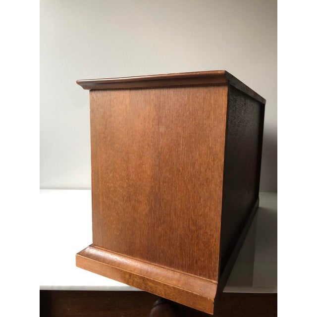Mid Century Wooden Jewelry Box For Sale - Image 4 of 11