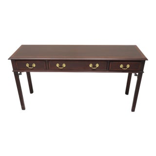 Chippendale Style Banded Mahogany Sofa Table by Pennsylvania House For Sale