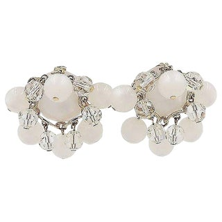 1950s Napier Moonglow Dangles Earrings For Sale