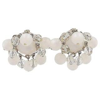 1950s Napier Moonglow Dangles Earrings For Sale