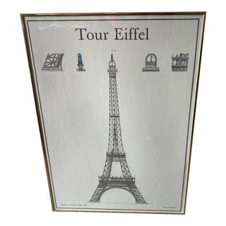 Tour Eiffel Framed Print** For Sale
