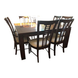 Square Table With Spindle Back Chairs Dining Set For Sale