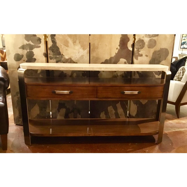 Gold Drexel Heritage Orme Console For Sale - Image 8 of 8