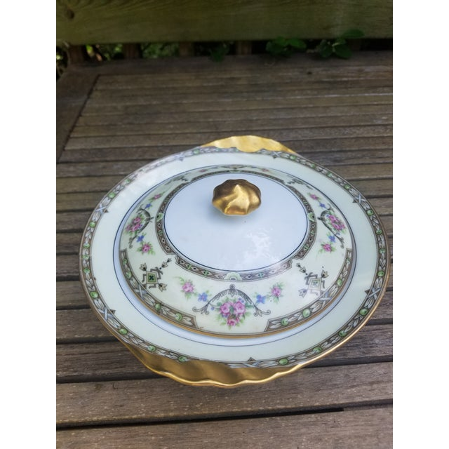White 1910s Limoges Uc Lidded Serving Bowl For Sale - Image 8 of 10