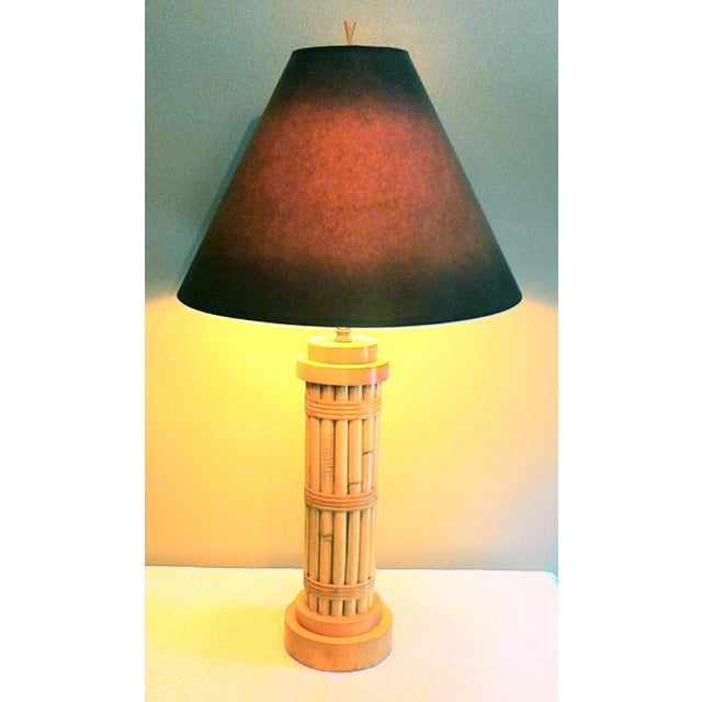 Vintage Regency Style Bamboo Lamp - Image 2 of 8