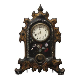 Antique Cast Iron Clock For Sale