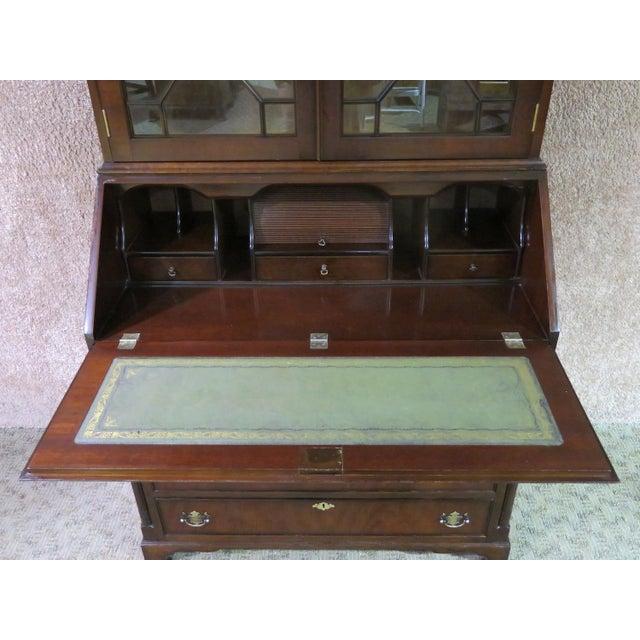 Hollywood Regency 1980s Regency Style Secretary Desk For Sale - Image 3 of 12