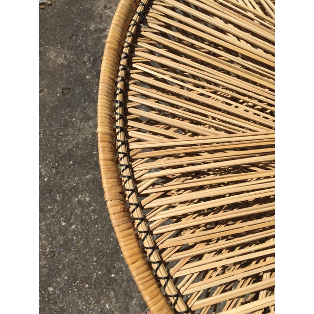 Natural Fiber 70s Boho Rattan Hourglass Dining Table For Sale - Image 7 of 8