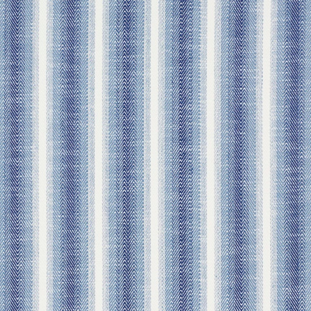 Contemporary Schumacher Colada Stripe Indoor/Outdoor Fabric in Blue For Sale - Image 3 of 3