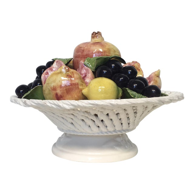 Italian Porcelain Fruit Topiary - Image 1 of 6