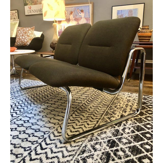 Vintage Steelcase Tandem Bench/Loveseat For Sale In Boston - Image 6 of 12