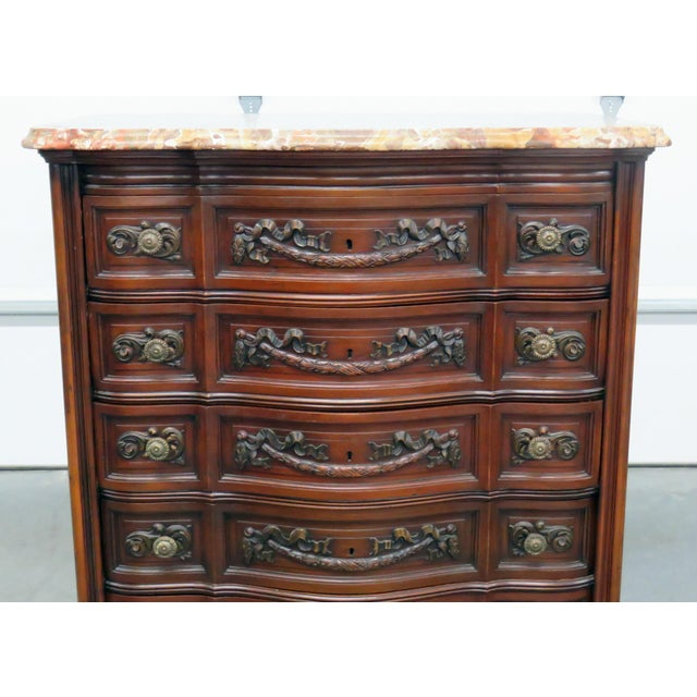 Louis XV Louis XV Style Marble Top Dresser. For Sale - Image 3 of 11