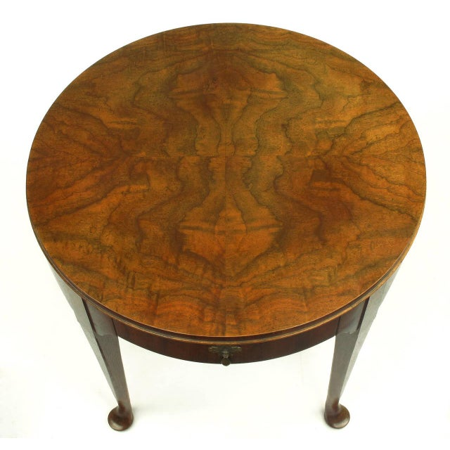 "Baker Furniture ""Milling Road"" Figured Walnut Regency Side Table - Image 5 of 10"