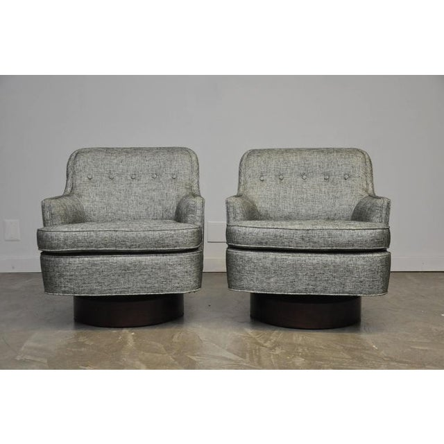 Dunbar Swivel Chairs by Edward Wormley - Image 2 of 6
