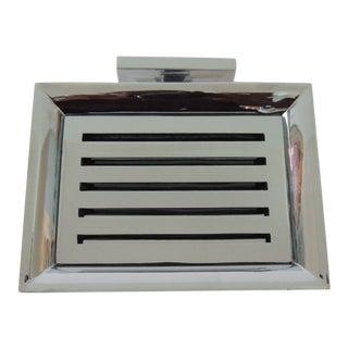 Restoration Hardware Small Shower Basket Satin Nickel For Sale