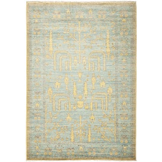"Laberinto, Oushak Area Rug - 4' 2"" X 6' 0"" For Sale"