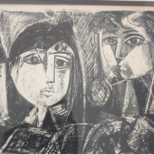 Vintage Picasso Style Lithograph - Image 2 of 7