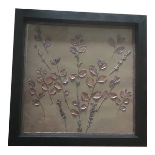Embellished Dried Leaves & Flowers of the San Fernando Valley (Framed Wall Art) For Sale