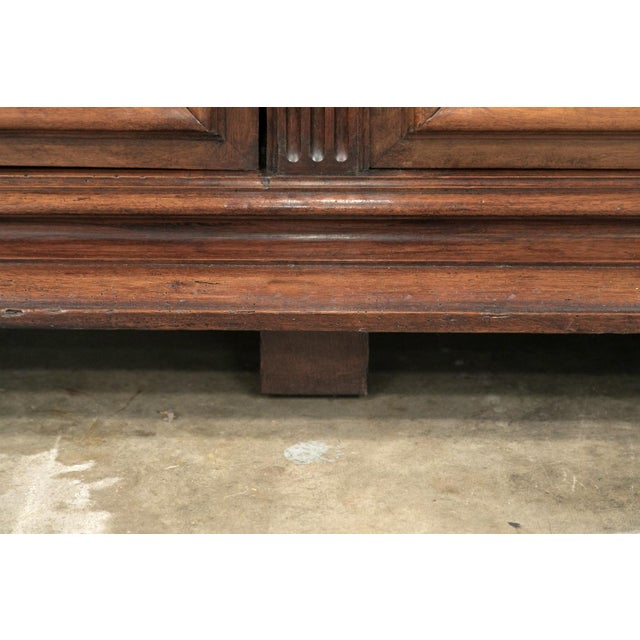 19th Century French Napoleon III Period Walnut Bibliotheque or Bookcase For Sale - Image 11 of 12