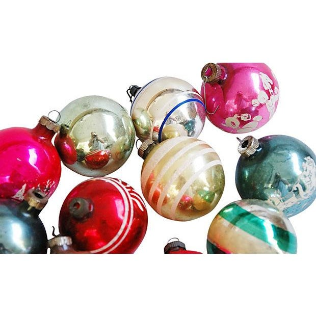 Mid-Century Fancy Holiday Ornaments - Set of 12 - Image 4 of 5