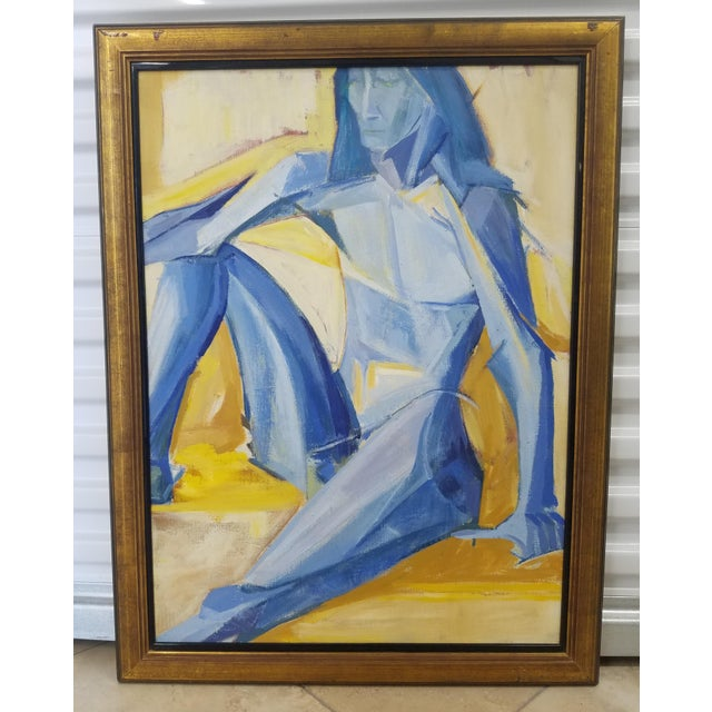 Abstract 1990s Figurative Abstract Painting For Sale - Image 3 of 3