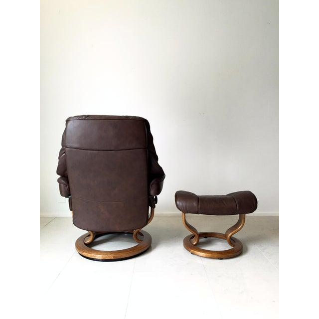 Vintage Ekornes Stressless Lounge Chair For Sale - Image 5 of 6