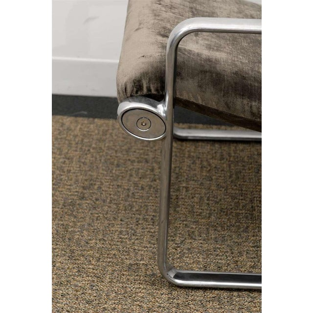 Gray Rare Pair of Aluminum Lounge/Club Chairs by Hannah/Morrison for Knoll For Sale - Image 8 of 11