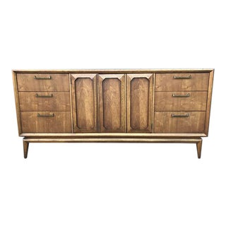 Mid Century Facet Collection Long Dresser by Broyhill Premier For Sale