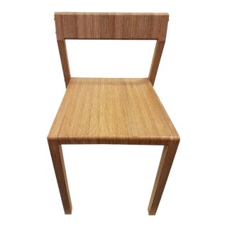 Jean-Baptiste Soubias Handmade Wooden Chair For Sale